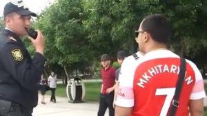เกือบวุ่น!แฟนบอลไทยโดนตำรวจบากูเรียกสอบ